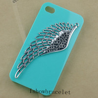 Silver Wing iphone case phone case iphone 4 case iphone 5 case Hollow Out  Wing iphone case