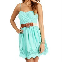 Mint Thin Straps Sundress