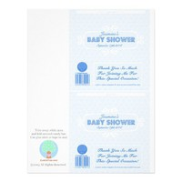 Baby Shower Custom Candy Bar Wrappers Blue from Zazzle.com