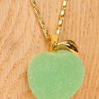 Q-POT. GREEN APPLE PATE DE FRUIT NECKLACE - WOMEN - JEWELRY - Q-POT. - OPENING CEREMONY