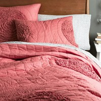 Ruffled Circles Quilt + Shams- Poppy