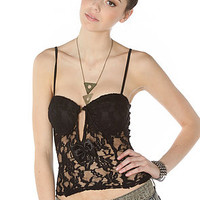 The Reverse Bustier Take a Bow Black
