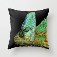 CHAMELEON KARMA Throw Pillow by catspaws