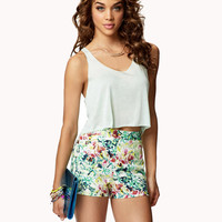 Tropical Floral Shorts | FOREVER21 - 2036415828