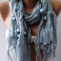 Grey -  Cotton Shawl