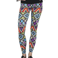 Multi Color Tribal Legging | Shop Active at Wet Seal