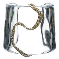 Mod Gold Clear Winding Cuff :: Bracelets :: Lucite :: Collections :: Alexis Bittar