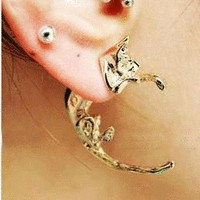 Fashion 3D Leopard Single Ear Stud (Single) | LilyFair Jewelry