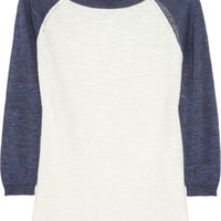 J.Crew | Knitted baseball sweater | NET-A-PORTER.COM