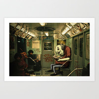 metro monster Art Print by antoniopiedade