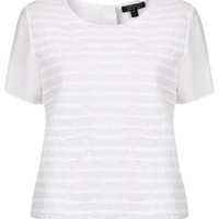 Casual Pleat Front Tee - Tees & Tunics - Tops  - Clothing