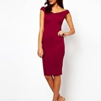 ASOS Off Shoulder Midi Dress at asos.com