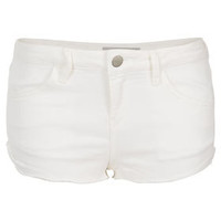 MOTO White Hotpants - Denim Shorts - Shorts  - Clothing