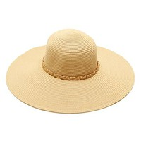 Natural Chain Trim Floppy Hat