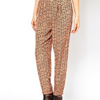ASOS Trouser in Letter Print at asos.com