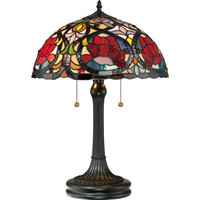 Quoizel Larissa Tiffany Table Lamp in Vintage Bronze