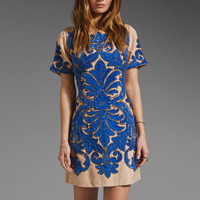 Tracy Reese RUNWAY Chestnut Formal Beading Dress in Persian Blue from REVOLVEclothing.com