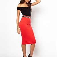 River Island Double Layer Tube Skirt at asos.com
