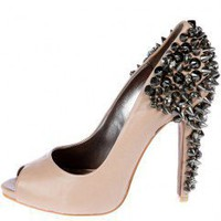 Lorissa Peeptoe Spiked Stud Heels by Sam Edelman at AKIRA | Embellished Footwear| shopAKIRA.com |