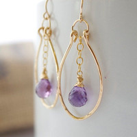 jewels2luv — Amethyst Hoop Earrings