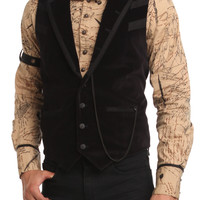 Lip Service Black Watch Chain Steampunk Slim-Fit Vest | Hot Topic