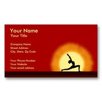 Yoga Sunrise Yoga Teacher Instructor Business Card from Zazzle.com
