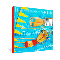 DENY Designs Home Accessories | Robin Faye Gates Swimming Is Hard Gallery Wrapped Canvas