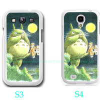 Totoro On Tree Photo- Samsung Galaxy S3 ,Samsung Galaxy S4,you can choose S3 or S4-includes screen protector and cleaning cloth