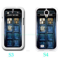 Personalized Dr Who Tardis-Samsung Galaxy S3 ,Samsung Galaxy S4 ,you can choose S3 or S4-includes screen protector and cleaning cloth