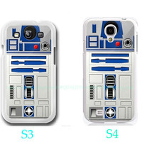 R2D2 Artoo Detoo-Samsung Galaxy S3 ,Samsung Galaxy S4 ,you can choose S3 or S4-includes screen protector and cleaning cloth