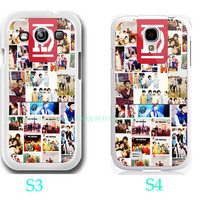 ONE DIRECTION 1D Logo Photo Collage Custom-Samsung Galaxy S3 ,Samsung Galaxy S4 ,you can choose S3 or S4-screen protector and cleaning cloth