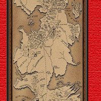 Personalized Game of thrones map iPhone 5 case iPhone 5 case Plastic case - includes screen protector and cleaning cloth
