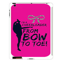 Personalized iPad 2/3/4 case - Bow to Toe- includes screen protector and cleaning cloth -plastic ipad cover