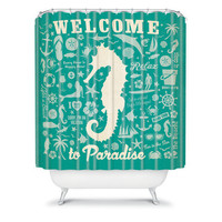 DENY Designs Home Accessories | Anderson Design Group Seahorse Pattern Shower Curtain
