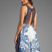 Free People Printed Russian Plate Dress in Indigo Combo from REVOLVEclothing.com