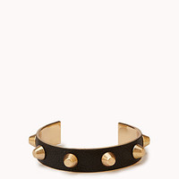 Bolt Studded Faux Leather Cuff