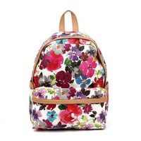 Printed Flora Backpack