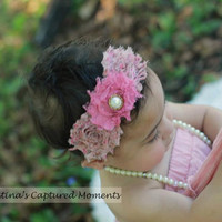 Helena Headband - All ages - Newborn Photography prop - Vintage couture feather headband