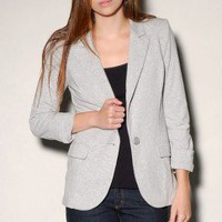 Knit Striped Line Blazer - ShopAKIRA.com