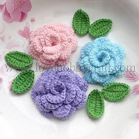 Wholesale Cheap Attractive Four-layer Handmade Flower Appliques   Cotton  at Lovehobbycraft.com