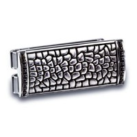 J.Goodman Sterling Silver Channel set Black Spinel Money Clip:Amazon:Jewelry
