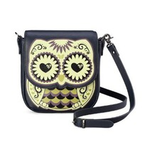 Amazon.com: Badier Black Owl Cross Body Shoulder Leather Bag and Purse: Clothing