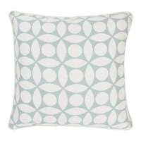 White & Spa Links Contemporary Pillow