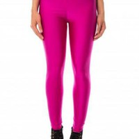 Fuschia High Waisted Leggings