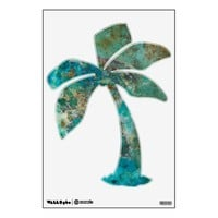 Blue Stone Palm Tree Room Stickers from Zazzle.com