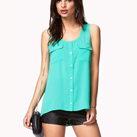 Buttoned Georgette Top