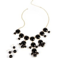Gold/Black Bubble Necklace