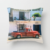 Mexico street scene #2 Throw Pillow by Bruce Stanfield