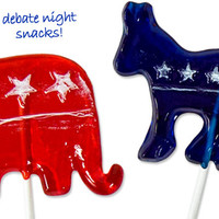 PARTY ANIMAL POLITICAL LOLLIPOPS