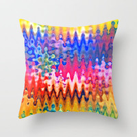 FANTASY WAVES Throw Pillow by catspaws
